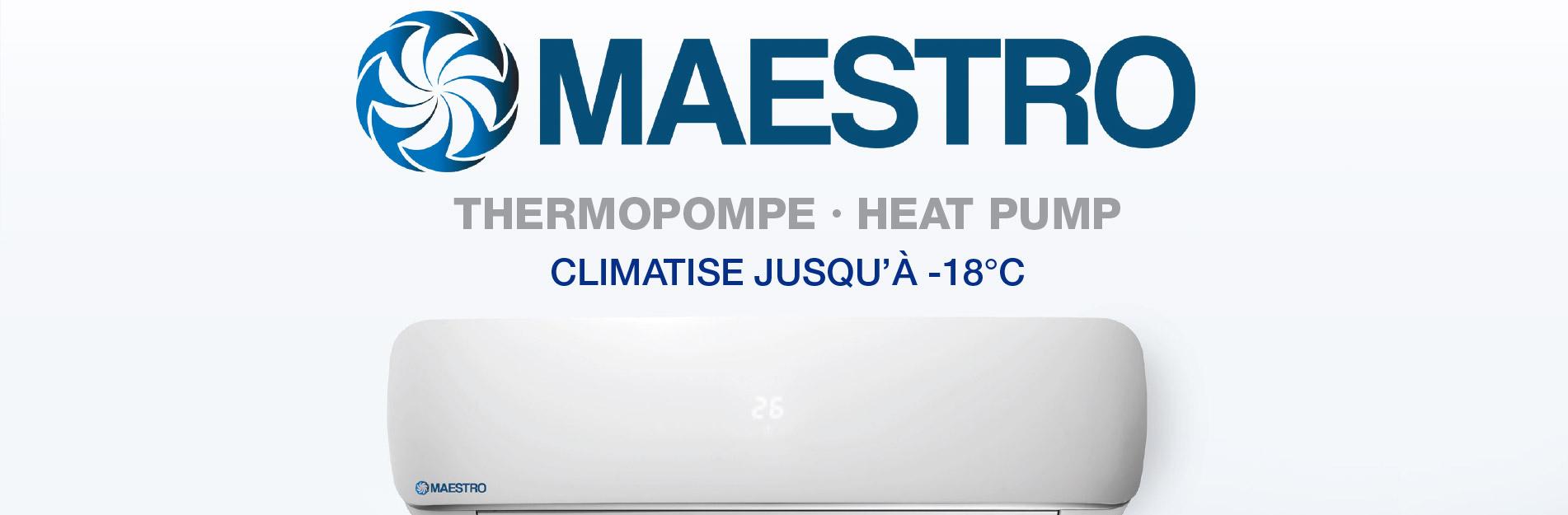 thermopompe murale maestro