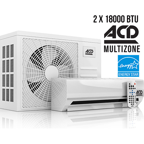 Climatiseur ACD Multizone ENERGYSTAR ACD 22 SEER 2x 18000 BTU 22 SEER