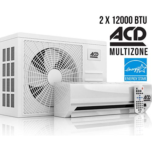 Climatiseur ACD Multizone ENERGYSTAR ACD 22 SEER 2x 12000 BTU 22 SEER