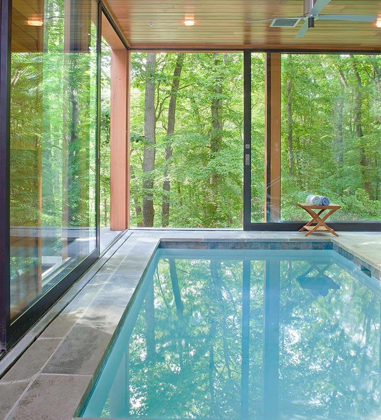 piscine interieure spa deshumidificateur
