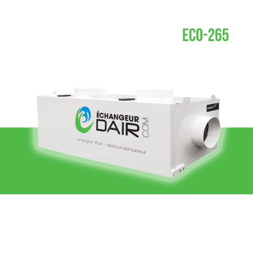 echangeur d'air pour spa deshumidificateur eco 265