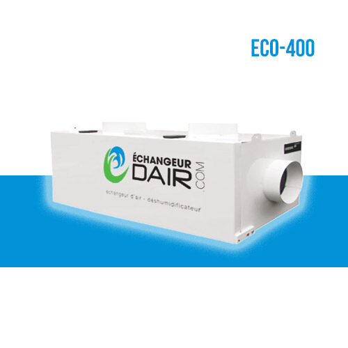 echangeur d'air pour piscine deshumidificateur eco 400