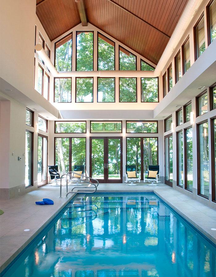 spa piscine intérieure déshumidificateur