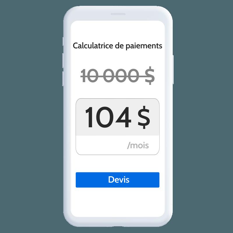 financement mobile calcul paiement