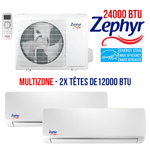 thermopompe Zephyr Multizone 36000 btu energystar